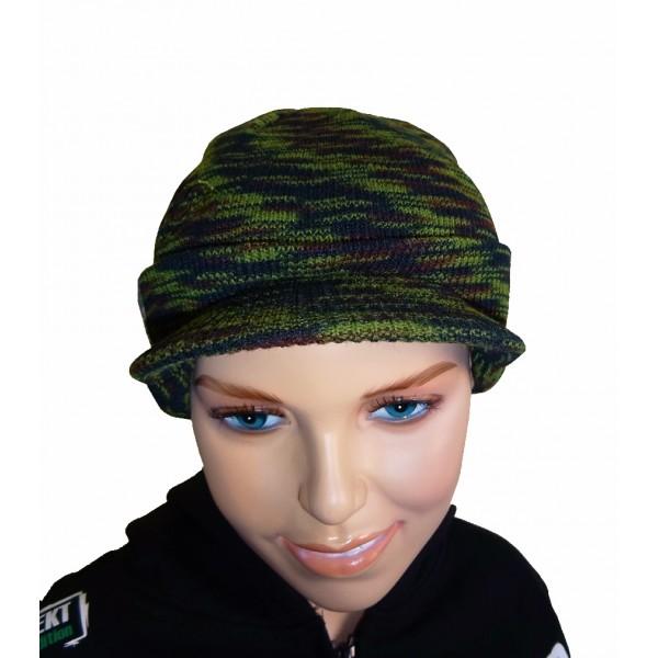 R-SPEKT Dětská čepice s kšiltem Peaked beanie camou kids