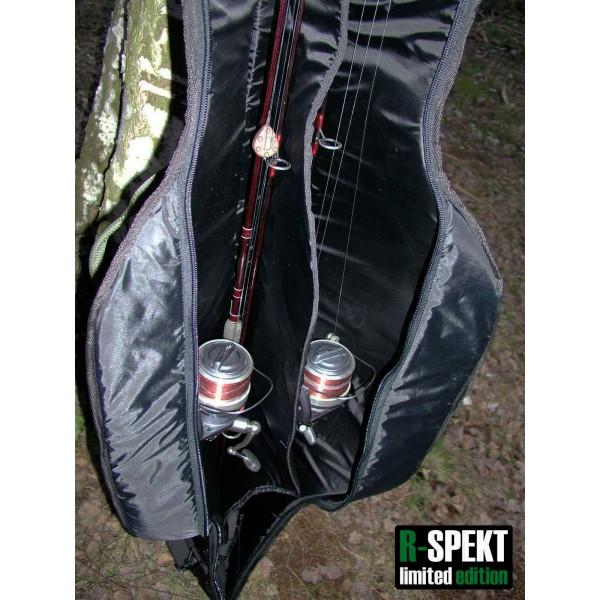 R-SPEKT Double 12´ polstrované černé pouzdro na 2 pruty