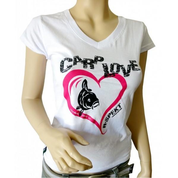 R-SPEKT Dámské tričko CARP LOVE bílé